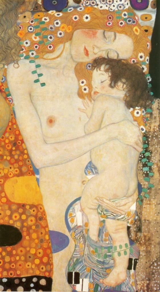 Maternidad (fragmento). Original pintado en 1905. Óleo sobre lienzo (178x198 cm). galeria Nacional de Arte Moderno de Roma